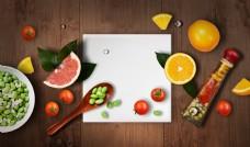 营养水果早餐海报模板设计