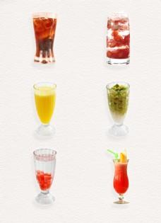 彩色酷暑冷饮产品实物