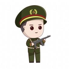 建军节卡通解放军军人