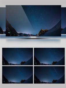 4k震撼大自然景观南极星空流星闪电