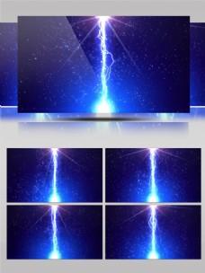 4K蓝色闪电动感舞台合成背景视频