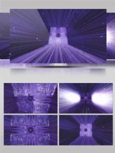 4K立方体粒子光线运动三维空间背景视频