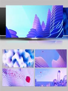 C4D动画山峰光球栏目包装动画背景