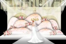 香槟浪漫室内婚礼效果图