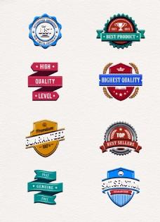 8款精美创意促销徽章设计素材