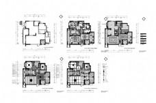 两居室居室CAD施工图纸