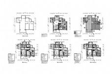 两居室户型CAD施工图纸