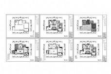 黑白风两居室户型CAD施工图纸
