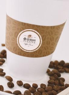 咖啡纸杯包装样机