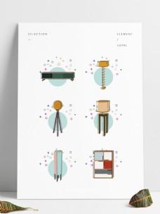 简约家具元素图形