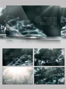 科技线条高清大气企业宣传会声会影模板