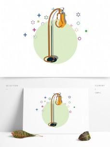 简约卡通灯具图形元素