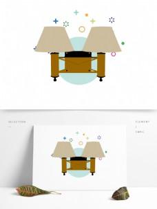 简约现代家居用品灯具图形元素