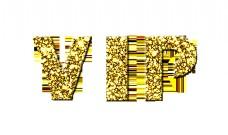 vip会员卡金色纹理立体字设计
