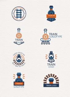 卡通创意火车标志素材
