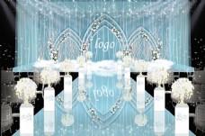 蓝白小清新暖冬婚礼效果图