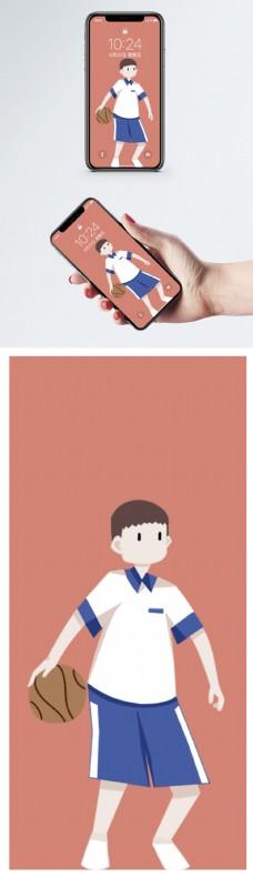 校服男孩手机壁纸