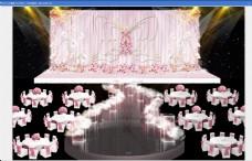 粉色婚礼效果图 粉色风格