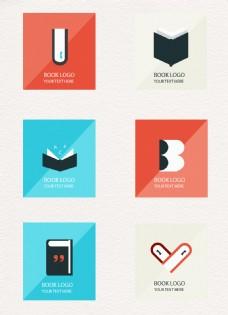 方形卡通书籍图标元素