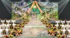 绿色森系婚礼布置