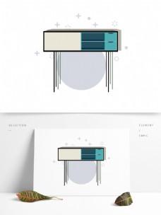 简约卡通家居家具图形元素桌子