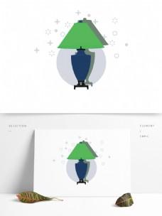 简约卡通家居家具图形元素灯具