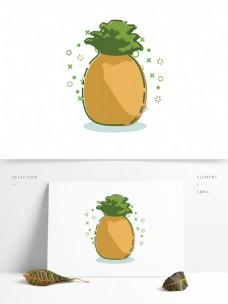 扁平简约MBE卡通立秋丰收水果元素