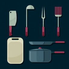 厨具元素矢量素材