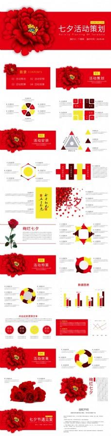 七夕节活动策划PPT模板
