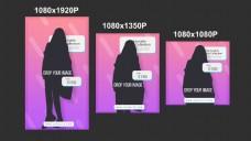 3种尺寸的屏幕内容排版动画演示ae工程