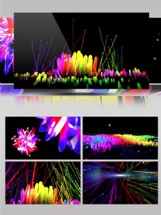 4K渐变水晶世界色彩空间展示演示视频