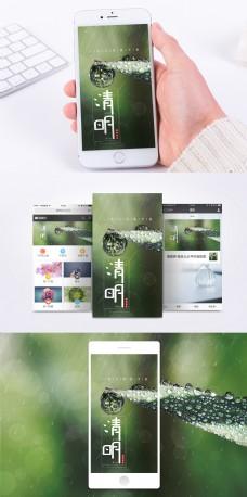 清明雨季手机海报配图