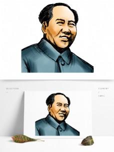 毛主席毛泽东建党节人物手绘