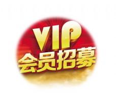 vip会员招募立体艺术字金色字体设计