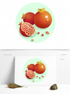 石榴水果立秋天秋收丰收红石榴籽果实美容