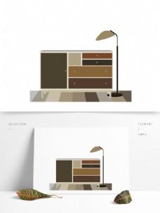 简约现代家居场景图形元素
