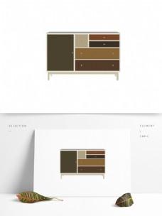 简约现代家居柜子图形元素