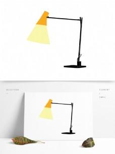 简约台灯灯具图形元素