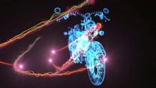 摩托车背景光效