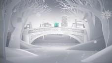 冬季雪景圣诞节礼物视频素材