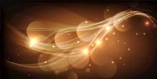 金光曲线光圈背景
