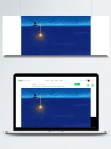 蓝色海洋线圈艺术背景素材
