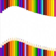 彩色画笔背景