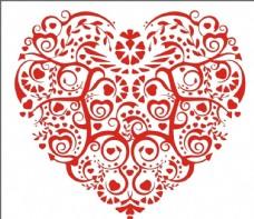 红心艺术花纹