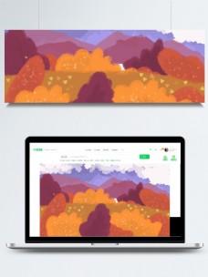 手绘多彩层叠背景素材
