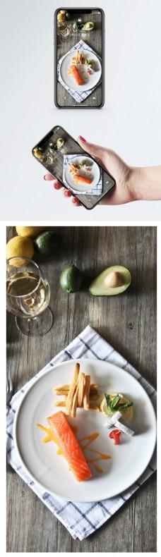 西餐美食料理手机壁纸