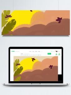 彩绘秋分节气简约背景素材