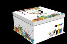 七彩甜品蛋糕盒包装设计