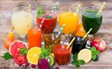 果汁饮料水果蔬菜苹果木板高球杯