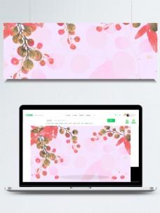 粉色秋季树叶背景素材